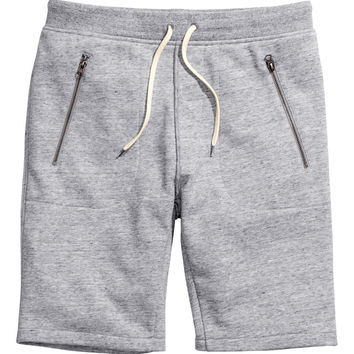 H&M - Sweatpant Shorts - Grey - Men