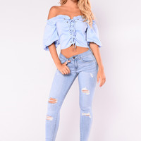 Long Beach Distressed Jeans - Light