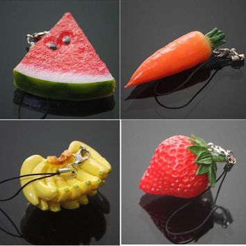 Keychain 1PC Mini Cute Fruit Keychain Simulation Fruit