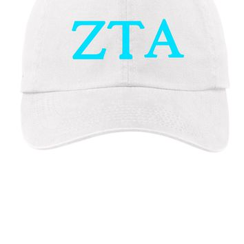 ZTA / Zeta Tau Alpha / Choose Your Colors / Sorority Cap