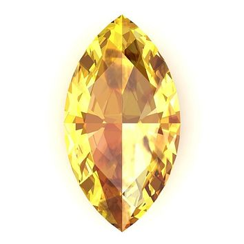 Marquise FAB Lab-Grown Yellow Sapphire Gems