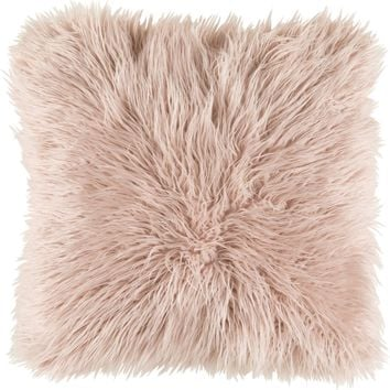 Kharaa Throw Pillow Pink Fur
