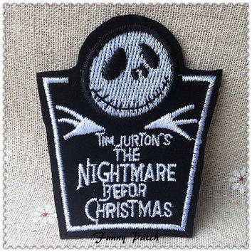 The Nightmare Before Christmas Jack Iron on Patch 270-H