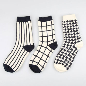 Classic Black And White Sock Set (5 Pairs)