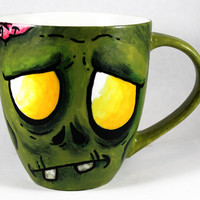 Zombie, Coffee Mug, Cup, handpainted