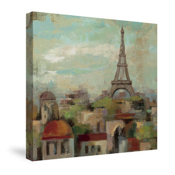 Spring in Paris II Canvas Wall Art
