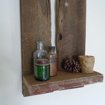 Rustic Handmade Barn Wood Shelf Wall Decor Reclaimed Oak U