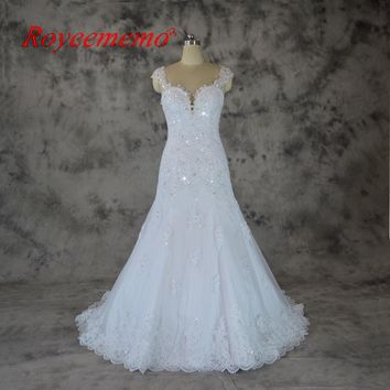 Royeememo real picture 2018 new design delicate lace mermaid Wedding dress hot sale bridal dress custom made factory supplier