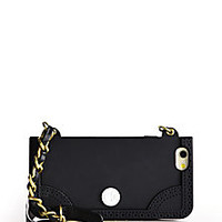 Tory Burch - Silicone & Leather iPhone 6 Chain Case - Saks Fifth Avenue Mobile
