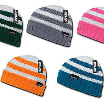 ad6ed354570b5 Cable Knit Striped Pattern Winter Beanie Cap Hat- Shasta- Cuglog