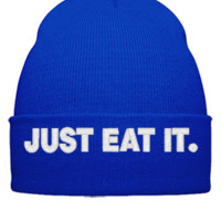 JUST EAT IT - Beanie Cuffed Knit Cap