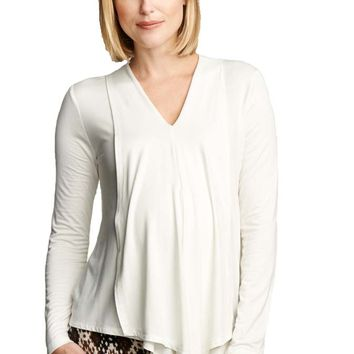 Maternal America Draped Panel Maternity Nursing Top