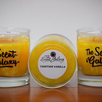 Tahitian Vanilla  Fragrance in Palm Wax , Highly Scented Candle