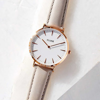 CLUSE La Boheme Rose Gold White/Grey Watch - Urban Outfitters