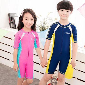 VONEML3 Child Swimwear One Piece Boys Girls Swimsuits Kids Bathing Suits Baby Swimsuit Girl Children Beach Wear Diving Swimming Suit