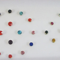 Energy Stars Multi-Colored Rhinestones Bindis In One Pack/ Indian India Bindi / Self Adhesive/ Fake Tragus Nose Stud/  Teen Bindi Sticker