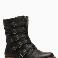 Wild Diva Buckle Me Up Combat Boots @ Cicihot Boots Catalog:women's winter boots,leather thigh high boots,black platform knee high boots,over the knee boots,Go Go boots,cowgirl boots,gladiator boots,womens dress boots,skirt boots.