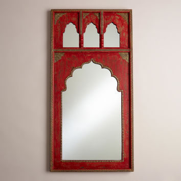 Red Mirror with Gold Detail - World Market