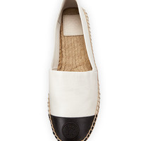 Tory Burch Colorblock Cap-Toe Espadrille