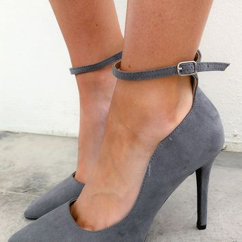 Stepping Into The Office Heels: Charcoal