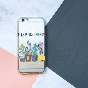 Plants Are Friends - Clear TPU Case Cover