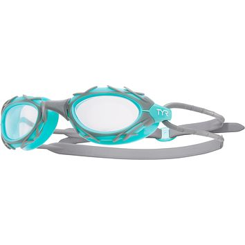 Tyr - Nest Pro Nano Grey + Mint Swim Goggles / Clear Lenses