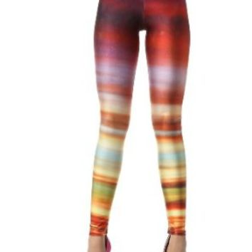 Blooms - Galaxy Colorful Calico Painting Footless Pantyhose Leggings Quality Assurance One Size (DK22)