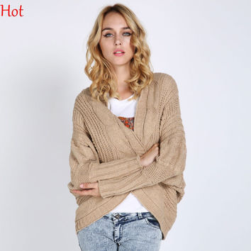 Winter Knitted Sweater Coat