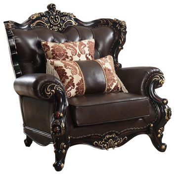 Barcelona Brown Leather Chair