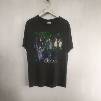 the Doors shirt vintage t shirt 90s vintage clothing band t-shirts Jim Morrison rock tees 90s grunge tshirt doors band black t-shirt large
