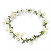 Ivory White Flower Garland Crown