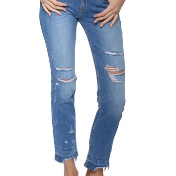 Flying Monkey High Rise Crop Straight Jeans