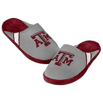 Texas A&M Aggies Jersey Mesh SLIDE SLIPPERS - New -   - NCAA