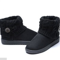 2015 winter women's boots warm casual snow knitted boots [8322973057]