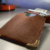 Leather Slim Wallet ,Thin Wallet, Card Wallet, Leather Wallet, Minimal Wallet, Snap Wallet