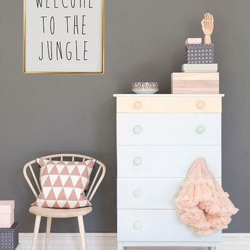 "Teen Room Print ""Welcome To The Jungle"", Teen Room Decor, Kids Wall Art, Kids Typographic Art, Nursery Room, Nursery Wall Art, Kids Wall Art"