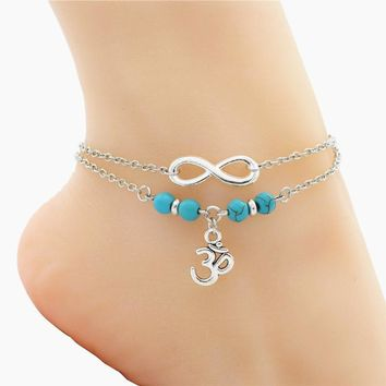 Silver Color Infinity Anklet