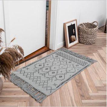 Autumn Fall welcome door mat doormat New Modern Soft Nordic Style Carpets For Living Room Bedroom Kid Room Rugs Home Carpet Floor  Cotton Kilim Area Rug Mats AT_76_7