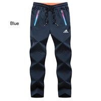 ADIDAS 2018 autumn and winter new outdoor lightweight stretch elastic hiking pants blue