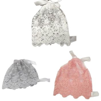 Fashion Children Kids Lace Floral Caps Handmade Baby Girl Lace Hat Baby Photography Props Christening Baby Bonnet Newborn Hat
