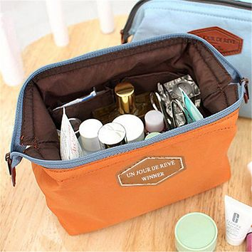 Women Cosmetic Bag Travel Makeup Bags Zipper Cosmetics Pouch Cases Travel Makeup Organizer Toiletry Kit Make Up Bag