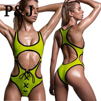 Hollow out Swimwear women high cut bodysuit sexy monokini swimsuit bathing suit maillot de bain