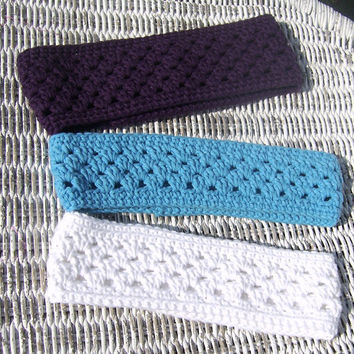 Crochet Pattern Shell Stitch Ear Warmer with Matching Wrist Warmer Texting Glove