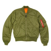 Alpha Industries MA-1 Slim Fit Flight Jacket, Sage