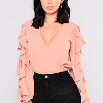 Rhiley Ruffle Top - Mauve