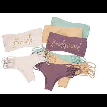 Bridesmaid Bikini Set - Banzai Bottom & Banzai Top