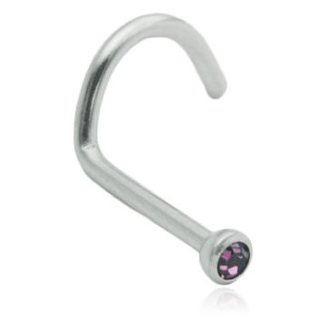 Purple Gem Nose Screw Stud