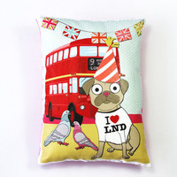 Diamond Jubilee Cushion With Pug - Folksy