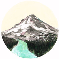 Mountain, art print 11 x 14