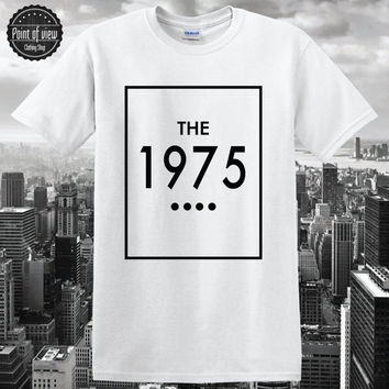 Women T shirt Summer Hipster 2016 THE1975 Letter Printed Graphic Tees Women Casual White Black Top Swag Women Clothes tumblr Brand NEW
